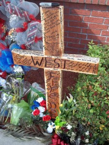 West, Texas cross